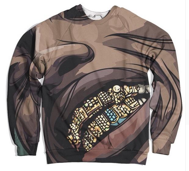 Unisex 3D Print Long Sleeve Crewneck Travis Scott Grilz Funny Sweatshirt jumper