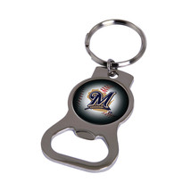 Non Metal Mlb Milwaukee Brewers Bottle Opener Key Ring By Rico Industrie... - $11.62