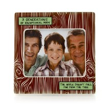 3 Generations Of Exceptional Men Family Ceramic Photo Picture Frame - £7.40 GBP