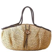 Donalworld Women Woven Retro String Large Casual Summer Beach Handbags - $34.87