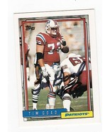 TIM GOAD AUTOGRAPHED CARD 1992 TOPPS NEW ENGLAND PATRIOTS - $3.58