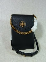 NWT Tory Burch Black Kira Mixed-materials Phone Crossbody Bag $278 - $275.22