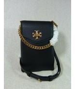 NWT Tory Burch Black Kira Mixed-materials Phone Crossbody Bag $278 - $275.22