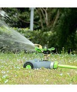 YeStar Lawn Sprinkler System, Adjustable 360° Rotating Portable Garden ... - £50.98 GBP