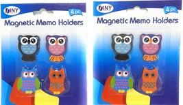 Owl Magnetic Decoration Memo Holder Owl Lover Kitchen Magnets Set of 8 - $7.91