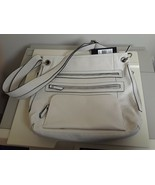 WOMENS Bueno Cream w Black Accents LARGE SHOULDER HANDBAG NEW W/ TAGS Vegan - $26.68