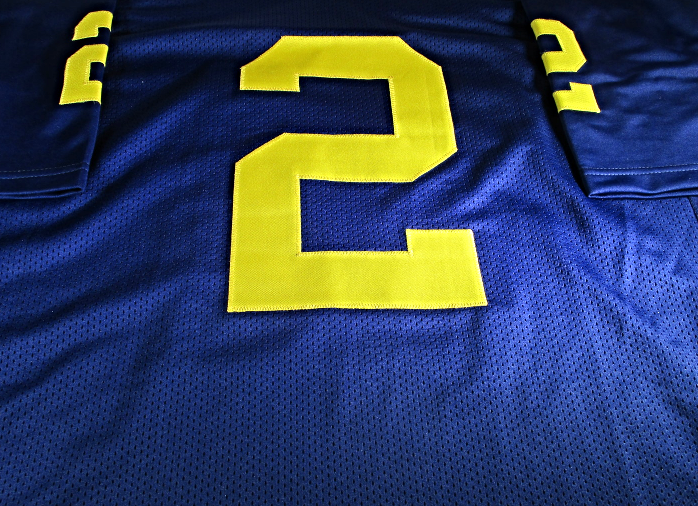 best service 5d726 b9d40 CHARLES WOODSON - MICHIGAN WOLVERINES - HAND SIGNED CUSTOM FOOTBALL JERSEY  - COA
