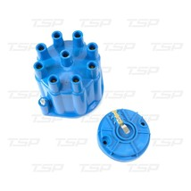 8-Cylinder Female Pro Series Distributor Cap & Rotor Kit (Blue)