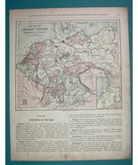 1875 MAP COLOR - GERMAN EMPIRE incl Western Poland - $6.71