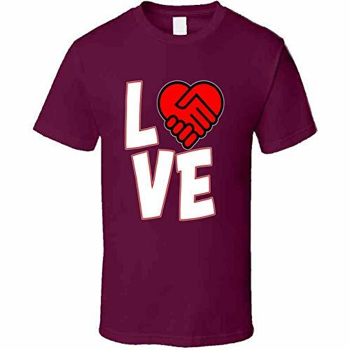 Love is A Deal Heart T Shirt 3XL Burgundy