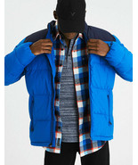 Retro NWT AMERICAN EAGLE Blue Coat Puffer Down Winter Jacket AE Extra Large XL - $110.77