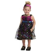 NEW Sweet Skeleton Halloween Costume Girls Toddler Size 2T Dress Headband - $15.43