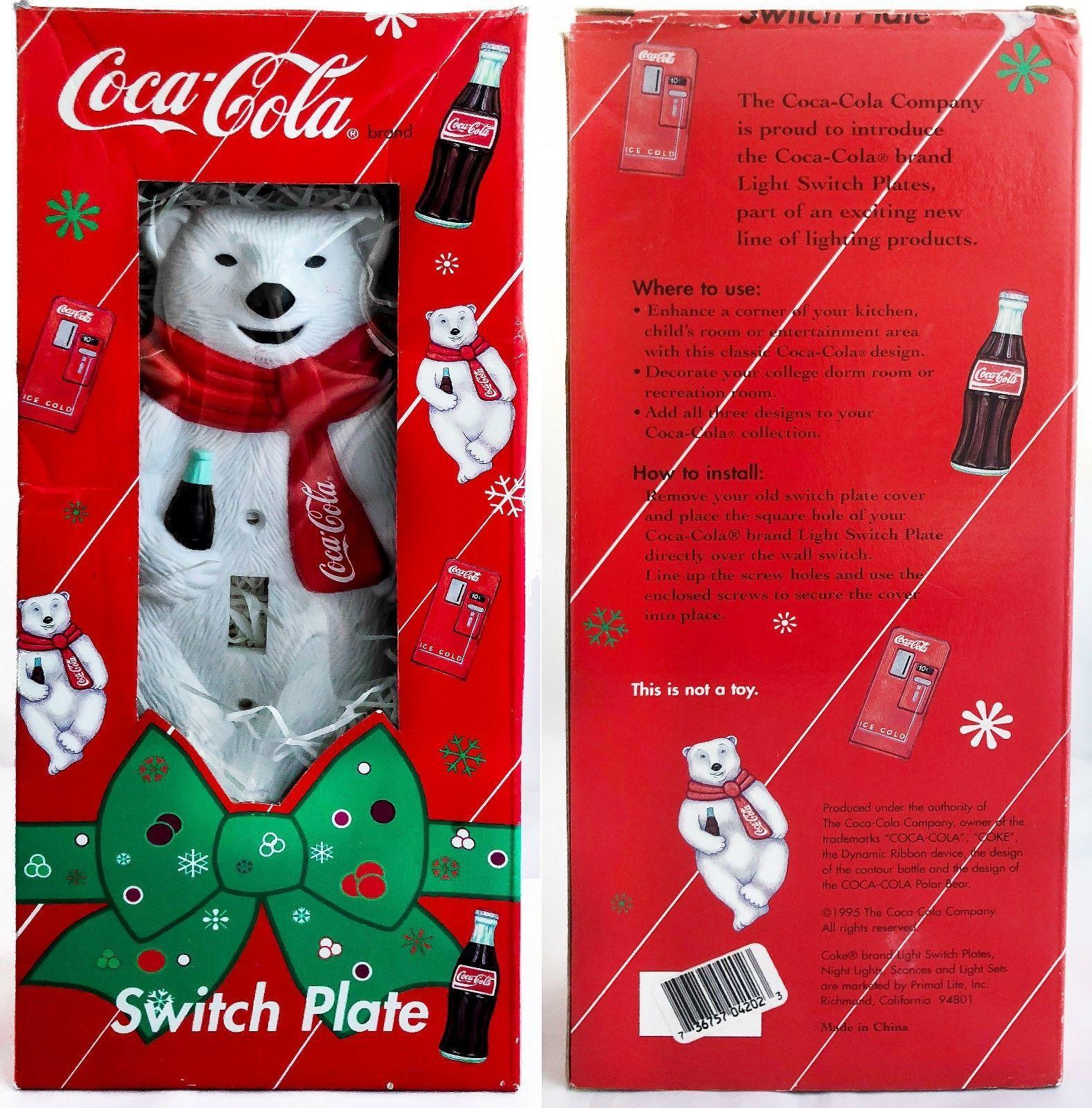 Coca-Cola Polar Bear Snowboarding Coke Christmas Enamel Vintage New in Package