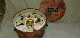 Tanta Klaus Set 4 Collectible Santa Claus Ornaments Hat Box Holiday Chri... - $24.74