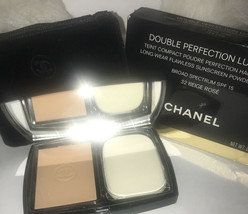 Chanel Double Perfection Lumiere Long Wear Flawless Powder SPF 15 Beige-... - $55.68