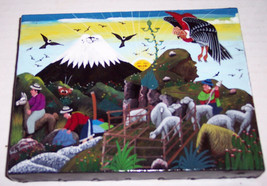 Signed INES TOAQUIZA Hand Made & Painted Ecuadorian Tigua Art Painting E... - $299.99
