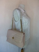 NWT Tory Burch Pink Moon Kira Chevron Convertible Shoulder Bag $528 image 2