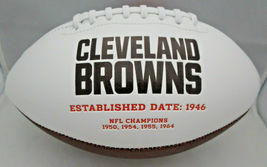 JIM BROWN / NFL HALL OF FAME / AUTOGRAPHED CLEVELAND BROWNS WHITE FOOTBALL / COA image 3