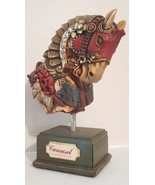 Antique Rare Carousel Coney Island Horse Head Wood Hand Carved Painted - $1,485.00