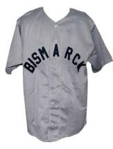 Bismarck Churchills Retro Baseball Jersey 1935 Button Down Grey Any Size image 4