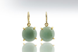 Gold aquamarine earrings,gold dangle earrings,March birthstone earrings - $89.00+