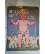 Vintage Betty Bo-PEEP Paper Doll Book by BESTMAID Litho Made in U.S.A UNCUT - $24.70