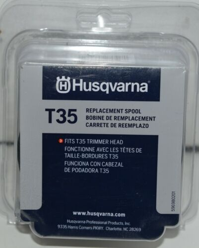Husqvarna 596784001 T35 Replacement Spool Fits T35 Trimmer Head Black Pkg of 1