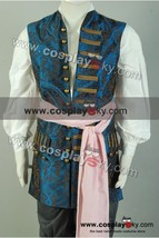 Pirates of The Caribbean 4 Captain Jack Sparrow Cosplay Costume Vest Suit Outfit - $67.56+
