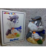 1993 Looney Tunes Warner Bros Bugs Bunny & Carrot Cookie Jar Canister MI... - $59.99