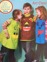 ** Ellie Mae Designs Sewing Pattern K0154 Art Class Childrens Smock New - $14.10