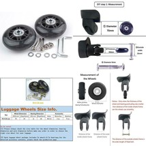 Petinthegarden 2 Set Roller Bag Replacement Wheels Luggage Suitcase Axle... - $16.76