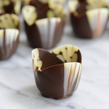 Marbled Chocolate Tulip Cup, Mini - 2 x 1 Inch - 1 box - 140 count - $223.27