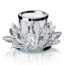Clear Lotus Flower Candle Tealight Holder Candlestick,Set of 2 - $25.20