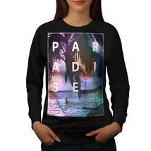 Paradise Beach Holiday Jumper Palm Chill Women Sweatshirt - $18.99