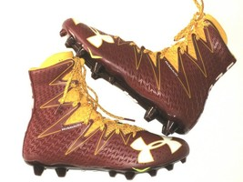 Under Armour Mens Highlight MC Football Cleats Maroon/Yellow SZ 10.5 126... - $47.50