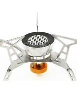 Portable Split Type Gas Stove Burner Adjustable Stainless Steel Furnace ... - £26.36 GBP