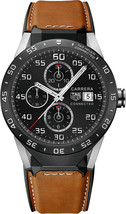 Tag Heuer Men's SAR8A80.FT6070 Connected Smartwatch Android IOS Leather ... - $2,575.05