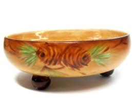 "Antique Princess Louise Porcelain Lusterware Footed Bowl AUSTRIA 5"" Circ... - $40.00"