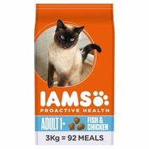 Iams Adult Dry Cat Food Ocean Fish & Chicken 3kg - $42.96