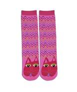 Cat K Bell Tube Slipper Socks Pink Fuchsia New Women Size 9-11 L Burch F... - $9.95