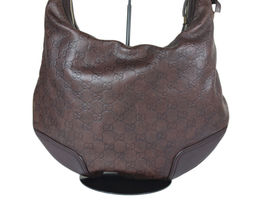 Auth GUCCI Guccissima Leather Dark Brown Shoulder Bag GH2155  image 4