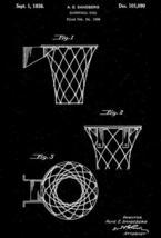 1936 - Basketball Goal - A. E. Sandberg - Patent Art Poster - $9.99+