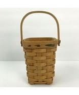 Longaberger Handled Basket 1998 Small American Cancer Society Signed  - $23.36