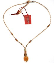 Necklace Antica Murrina Venezia with Murano Glass Beige & Amber CO872A10 image 2