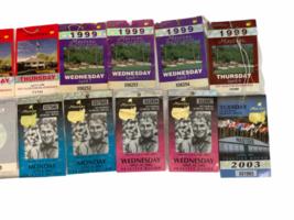 Lot of Vintage Masters Tournament Ticket Collection 1997-2003 Augusta Ephemera image 3