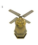 Bronze Dutch Windmill Model Metal Figurine Furnishing Article Holland Wi... - £18.53 GBP+