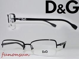 Dolce & Gabbana Women's Eyeglasses D&G 5107 01 Black Half Rimles Rectang... - $76.63