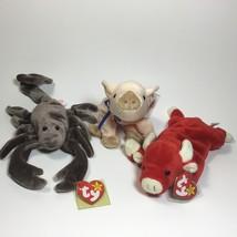 TY Beanie Baby - Snort , Knuckles, Stinger Stuffed Animals Plush Toy 3 F... - $11.88