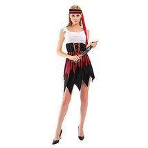 EraSpooky Women's Pirate Costume Black Dress, Small - £16.05 GBP