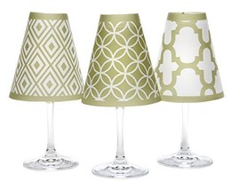 di Potter Wine Glass Shades, Set of 6, Barcelona Oasis Green - $44.08